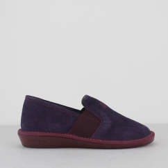 9161 (AFELPADO) Ladies Full Slippers Purple