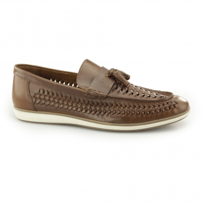 Red Tape Woven Tassel Loafers In Leather UslxnIVhWf