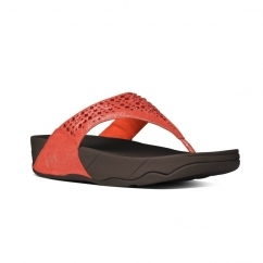 NOVY™ Ladies Suede Toe Post Sandals Flame
