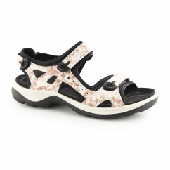 OFFROAD Ladies Leather Touch Fasten Sandals Coral Camo
