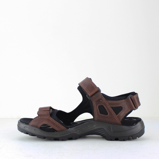 8aa488ece37a ECCO OFFROAD Mens Leather Touch Fasten Sandals Brandy