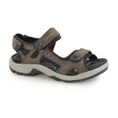 OFFROAD Mens Leather Touch Fasten Sandals Espresso