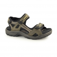 OFFROAD Mens Leather Touch Fasten Sandals Tarmac