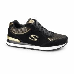 OG 82 - DASH AND DAZZLE Ladies Retro Trainers Black/Gold