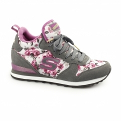 OG 85-HOLLYWOOD ROSE Ladies Retro Trainers Grey/Pink