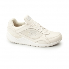 OG 95 - HUG IT OUT Ladies Leather Retro Trainers Natural