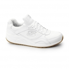 OG 95 - HUG IT OUT Ladies Leather Retro Trainers White