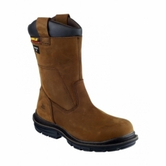 OLTON Mens Safety Rigger Boots Brown