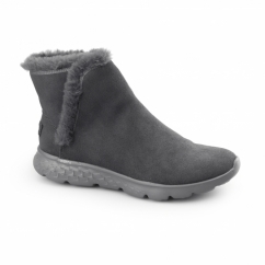 ON THE GO 400-BLAZE Ladies Suede Warm Ankle Boots Charcoal