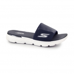 ON THE GO 400-COOLER Mens Slider Flip Flops Navy/White