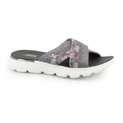ON THE GO 400-TROPICAL Ladies Mule Flip Flop Grey