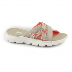 ON THE GO 400-TROPICAL Ladies Mule Flip Flop Natural/Coral