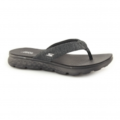 ON THE GO 400-VIVACITY Ladies Toe Post Flip Flops Black