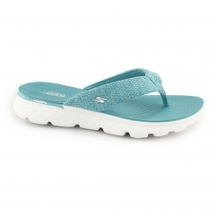 ON THE GO 400-VIVACITY Ladies Toe Post Flip Flops Teal