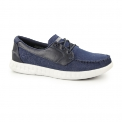 ON THE GO-GLIDE Mens Boat Shoes Navy/Grey
