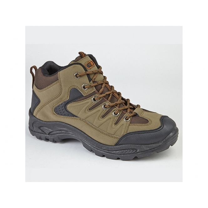 DEK ONTARIO Mens Lace Up Trail Trek Mid Ankle Boots Khaki