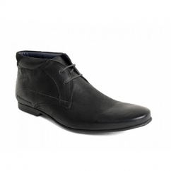 ORBIT Mens Softy Leather Boots Black