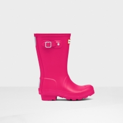 Hunter Kids Junior ORIGINAL Wellington Boots Pink
