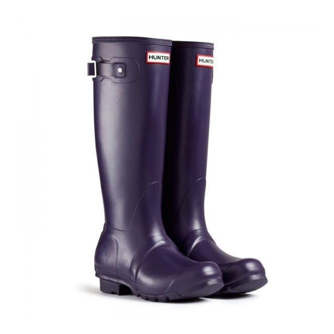 Hunter ORIGINAL Ladies Tall Wellington Boots Aubergine