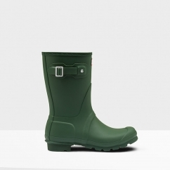 Hunter ORIGINAL SHORT Ladies Wellington Boots Hunter Green