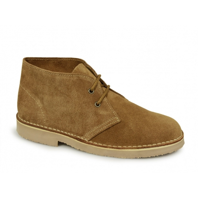Roamers ORIGINAL Unisex Suede Leather Desert Boots Sand