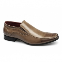 OSVALDO Mens Faux Leather Slip On Shoes Tan