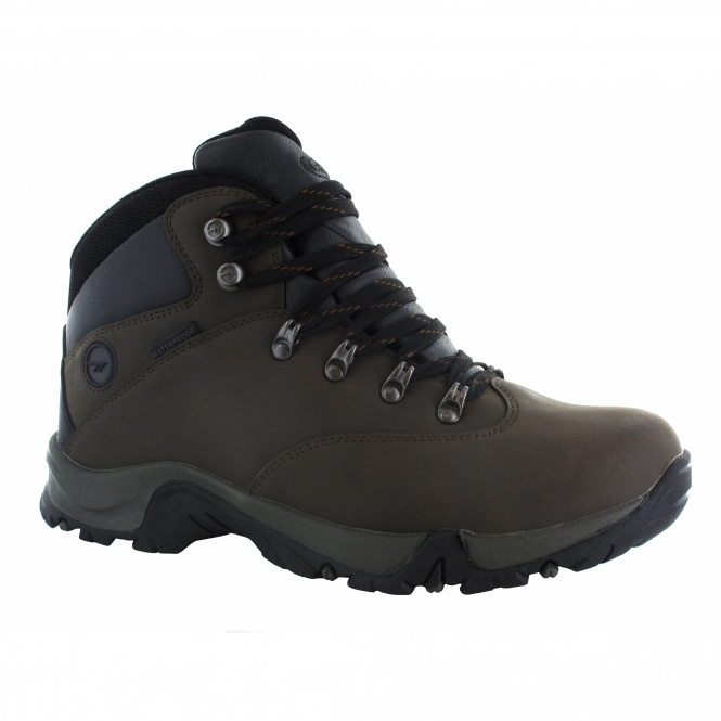 Hi-Tec OTTAWA II WP Mens Waterproof Hiking Boots Dark Chocolate