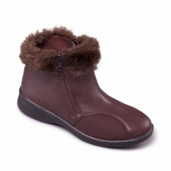 ADELE Ladies Leather Extra Wide (3E/4E) Boots Brown