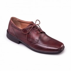 ASTON Mens Leather Wide (G Fit) Shoes Brown