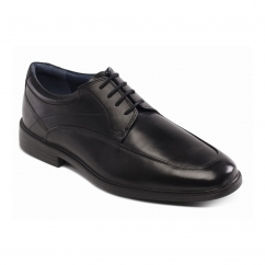 Padders BAKER Mens Leather Wide (G Fit) Shoes Black