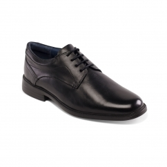 Padders BANK Mens Leather Wide (G Fit) Shoes Black