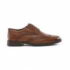 d83ab27222954 Padders BERKELEY Mens Leather Wide (G Fit) Brogue Shoes Tan | Shuperb