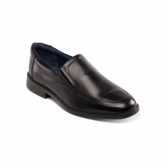 Padders BOND Mens Leather Wide (G Fit) Shoes Black