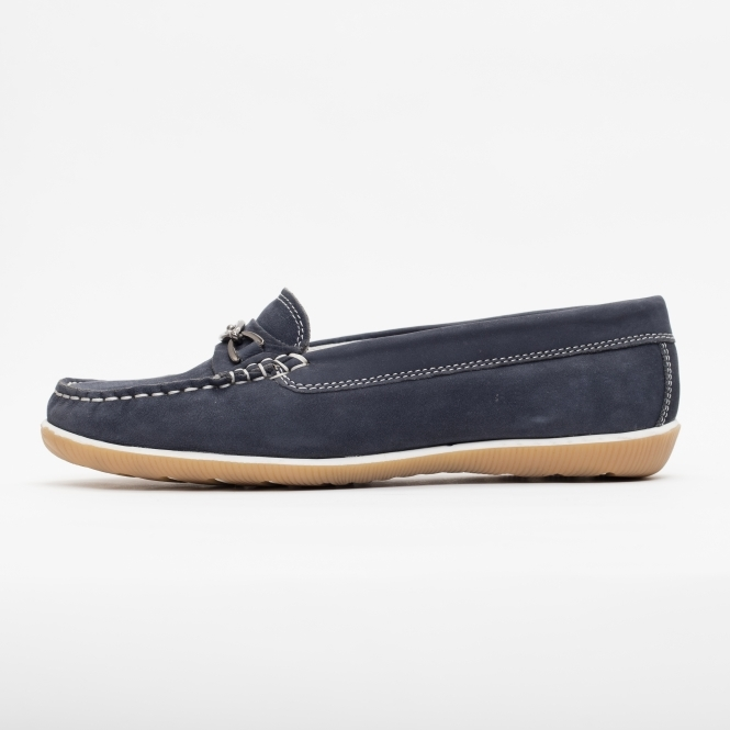 6d58c24bcd7 Padders BRIGHTON Womens Nubuck Moccasin Saddle Shoes Blue