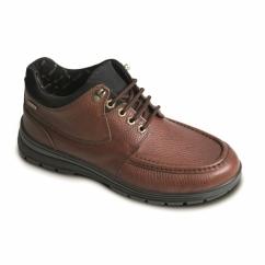 CREST Mens Leather Extra Wide Waterproof Shoes Tan