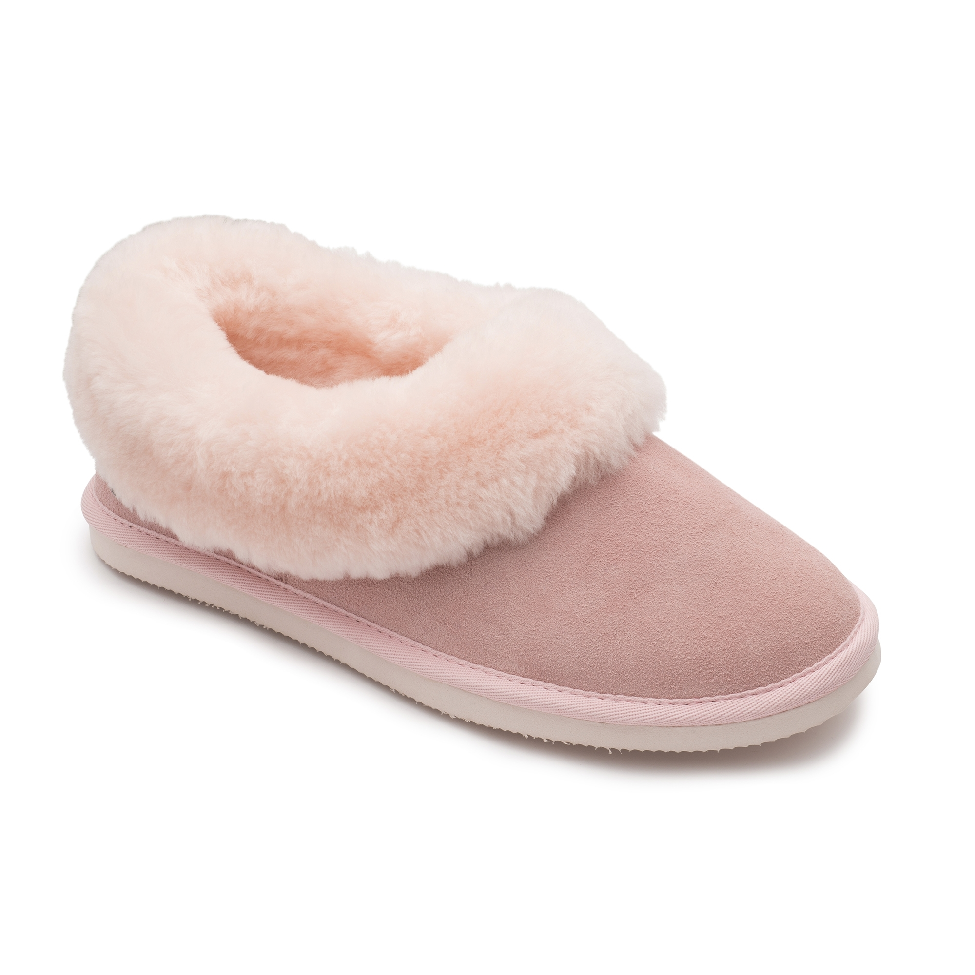 2E Fit Cuddle Ladies Padders Suede Slipper