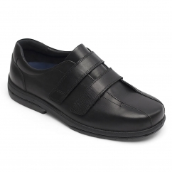 Padders DARWIN Mens Leather Super Wide (H/K) Shoes Black