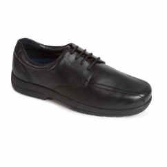 DEXTER Mens Leather Lace Extra Wide Plus Shoes Black