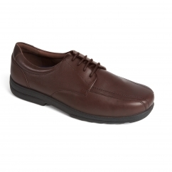 DEXTER Mens Leather Lace Extra Wide Plus Shoes Brown