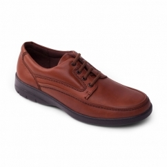 FIRE Mens Leather (F Fit) Comfort Shoes Tan