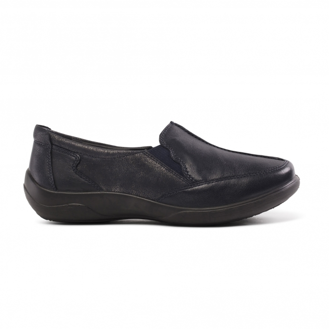 Padders FLUTE Ladies Leather Extra Wide Slip On Shoes Metallic Combi 2E//3E