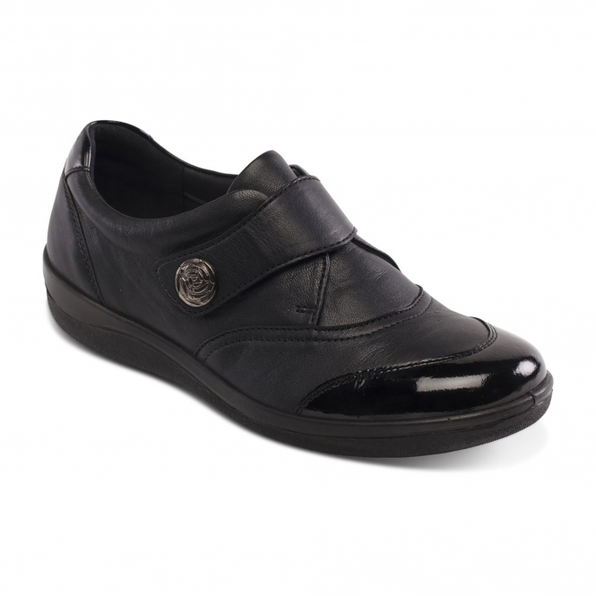 clearance store online Black leather 'Gaby' wide fit shoes clearance explore buy cheap best sale shop for cheap online uB86qT4sU