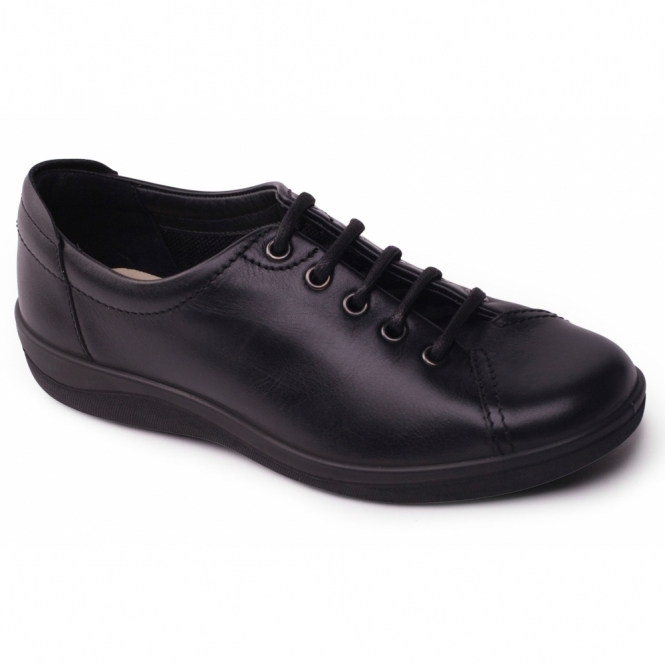 Padders GALAXY 2 Ladies Leather Wide (E Fit) Shoes Black