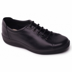 GALAXY 2 Ladies Leather Wide Fit Shoes Black
