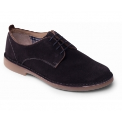 JAMIE Mens Suede Wide (G Fit) Derby Shoes Navy