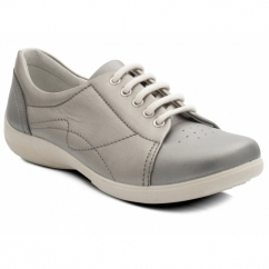 Padders JESSICA Ladies Leather Extra Wide (3E/4E) Shoes Metallic