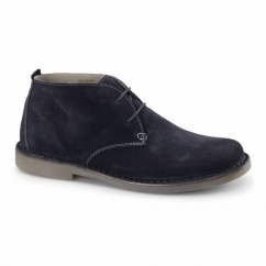 JOE Mens Suede Wide Fit Desert Boots Navy
