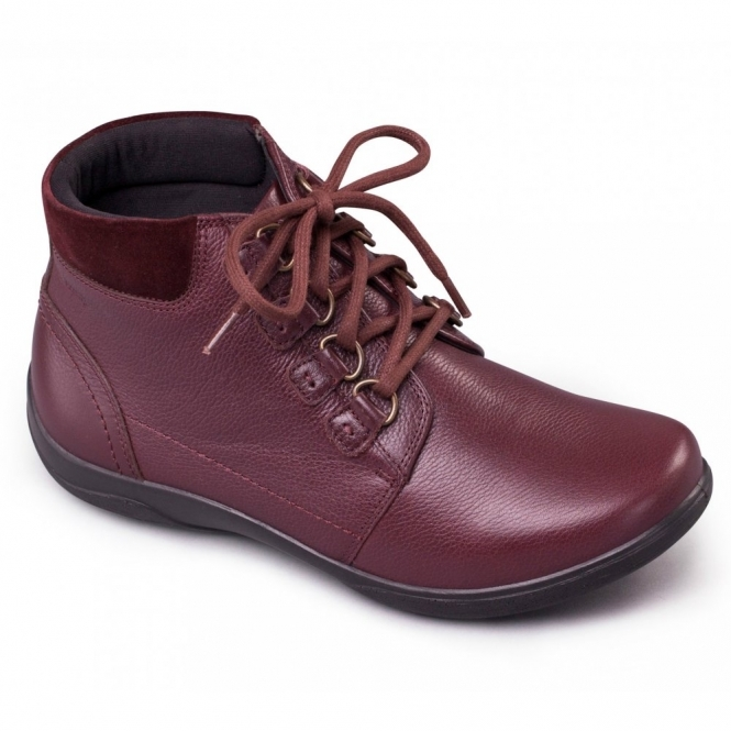 Padders JOURNEY Ladies Leather Extra Wide (3E/4E) Boots Burgundy