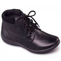 JOURNEY Ladies Waterproof Leather EEE/EEEE Wide Boots Black