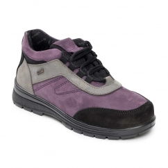 JUMP Ladies Leather Waterproof Extra Wide/Plus Boots Mauve